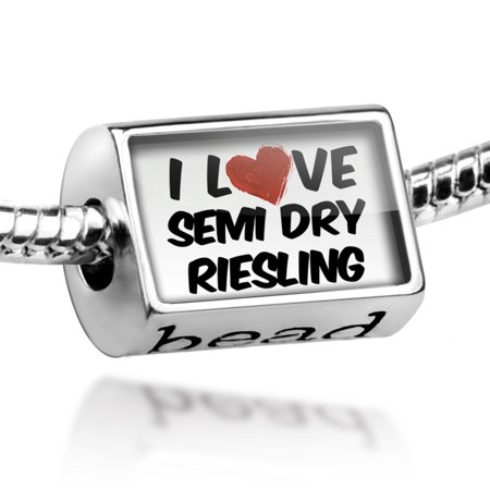 Bead I Love Semi Dry Riesling Wine Charm Fits All European Bracelets