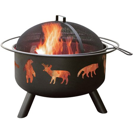Landmann Big Sky Fire Pit, Wildlife, Black