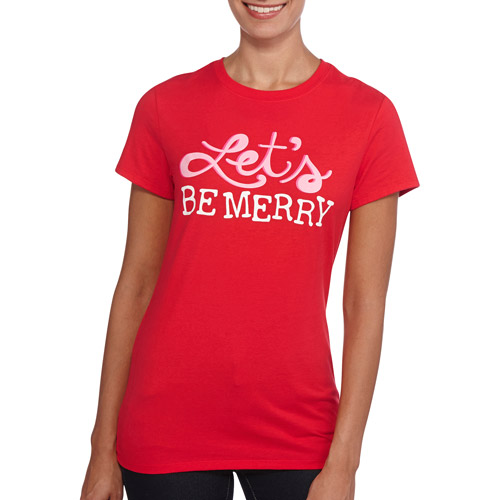 Holiday Time Women's Festive Christmas T-Shirt