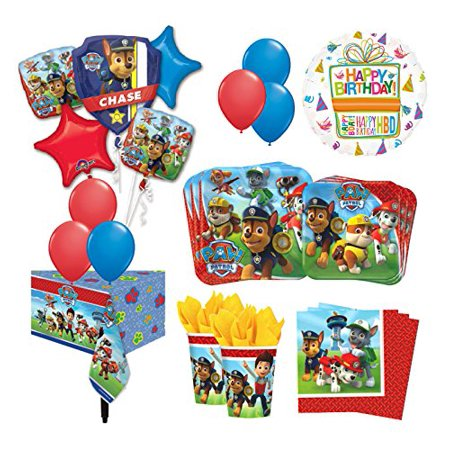 The Ultimate 16 Guest 94pc Paw Patrol Birthday Party Supplies