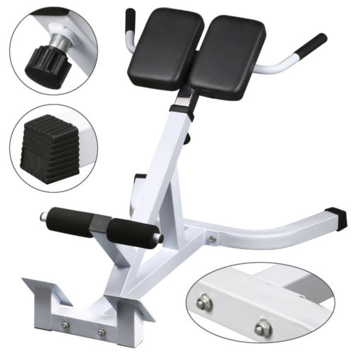 Zimtown Adjustable Roman Chair Bench For Reverse Hyperextension (Back  Extensions) Exercise, For Abdominal