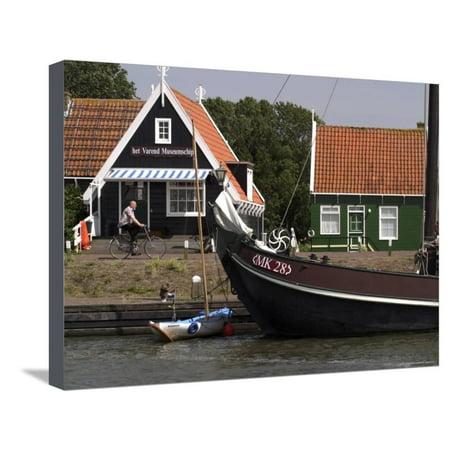 Marken, a Fishing Village, Netherlands (Holland) Stretched Canvas Print Wall Art By G Richardson (Marken Az)