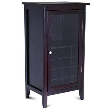 - Winsome Wood Ryan 16-Bottle Wine Cabinet with Display Glass Door, Espresso Finish