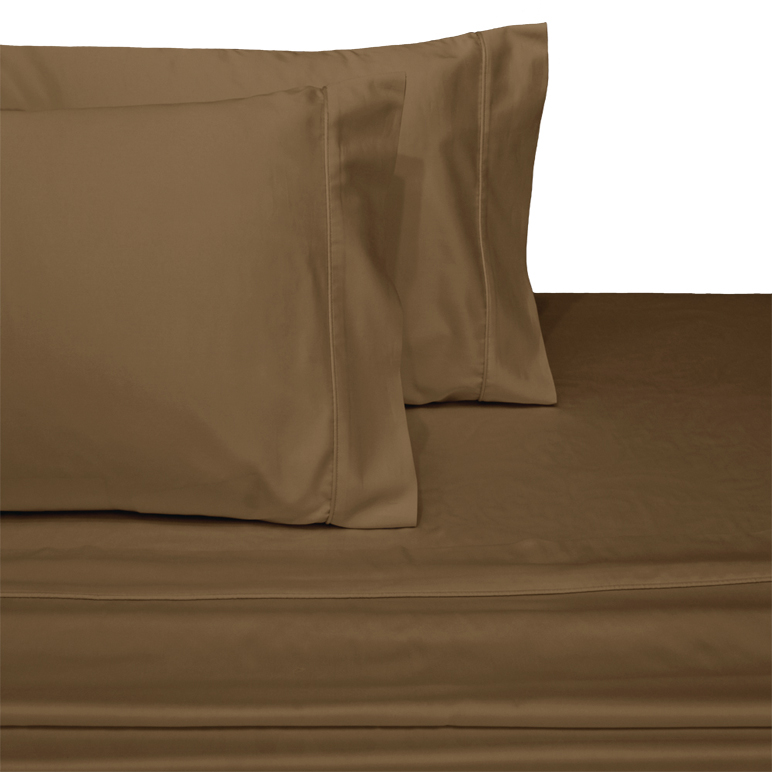 22 inch Extra Deep Pocket Sheets Soft 100% Cotton 300 Thread Count Sheet Set- California King - Taupe