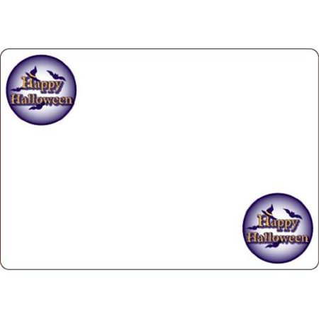 Ace Label 7119AL Happy Halloween Adhesive Name Badge, 20 Sheets Per Pack