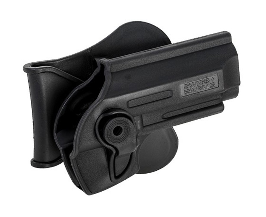 Swiss Arms Poly Holster Fits Various Taurus Pt92, Beretta 92 Air & Airsoft Pistols, Black by