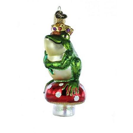 Fraga Christmas Ornament - Old World Christmas Frog Prince Glass Blown Ornament