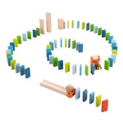 HABA Domino Starter Pack 70 Piece Building Set for Ages 3-10 (Made in Germany)