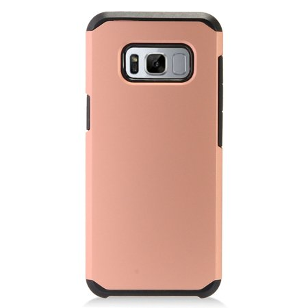 samsung galaxy s8 case, by insten rubberized dual layer hybrid hard plastic/tpu case phone cover for samsung galaxy s8 ()