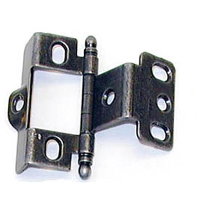A03175TB WI PK Amerock Full Inset Full Wrap Free Swinging Ball Tip Hinge For 0.75 in. Doors, Wrought Iron Single