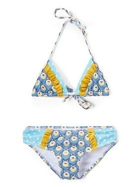 cbc870756b623 Azul Girls Blue Shell Touch Of Gold 2 Pc Triangle Bikini Swimsuit
