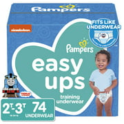 Pampers Easy Ups Training Underwear Boys, Size 2T-3T, 74 Ct
