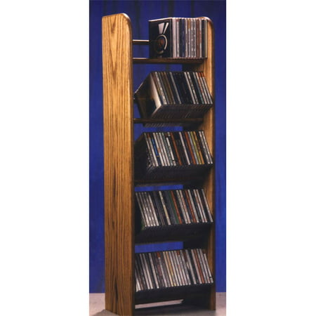 Dowel CD Rack w 5 Row (Honey Oak)