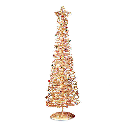 National Tree Co. Wire 1' 4'' Gold Artificial Christmas Tree