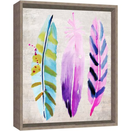 Colorful Feathers (3), 17X21 Overall Dimension Framed Wall Art ...