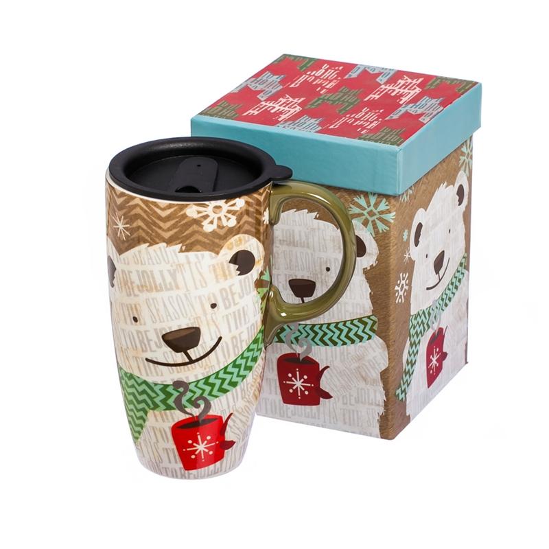 Polar Ceramic Travel Cup,17 oz.