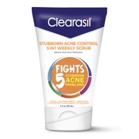 Clearasil Stubborn Acne Control 5in1 Weekly Face Scrub, 5oz