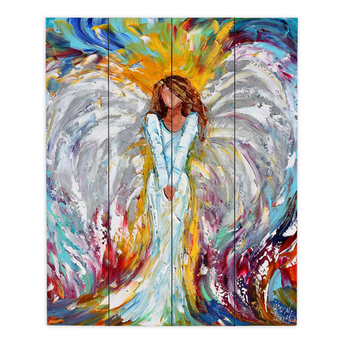 DiaNoche Designs Angel Watching Over Me by Karen Tarlton Painting Print Plaque