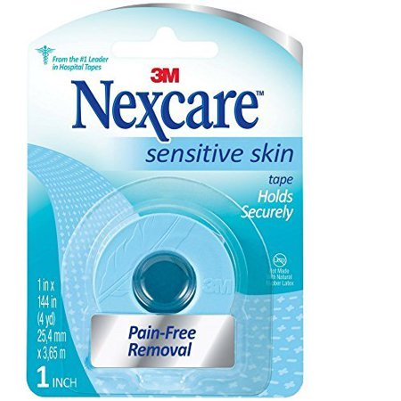 Nexcare Sensitive Skin Low Trauma Tape 1 in x 144 in 1 ea (Pack of 3) Skin Protection Tape