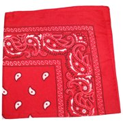 12 Pack Uni Style Apparel 100% Cotton 22 x 22 Inch Paisley Printed Bandana