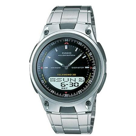 Men's Sports Ana-Digi Databank Watch, Black (Databank Resin)