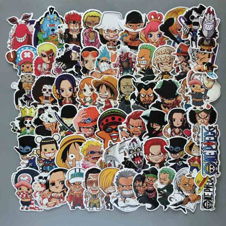 Fancyleo 60 Pcs/Lot Anime 2019  Luffy Stickers For Car Laptop PVC  Backpack Home Decal Pad Bicycle Waterproof