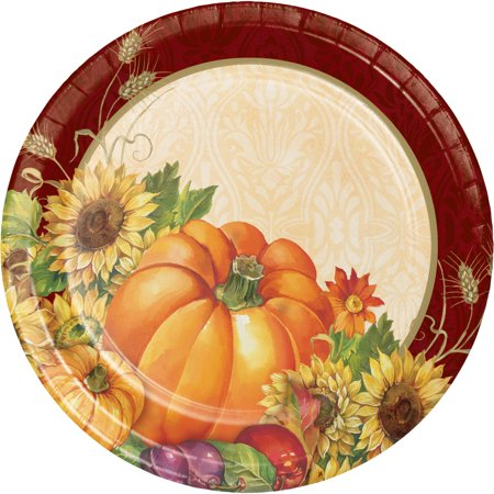 Regal Turkey Thanksgiving Dessert Plates, 8 pack - Walmart.com