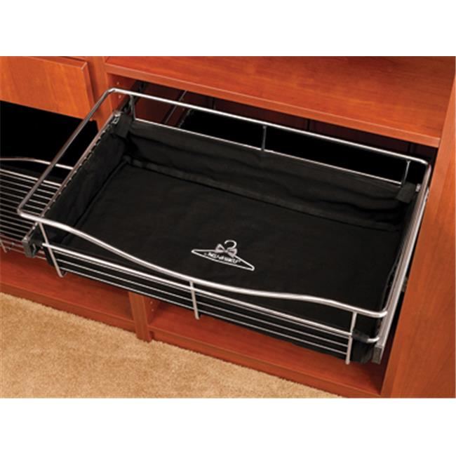 HD RSCBL242011.B Wire Pullout Baskets, Cloth Liners - Black, 24 x 20 x 11