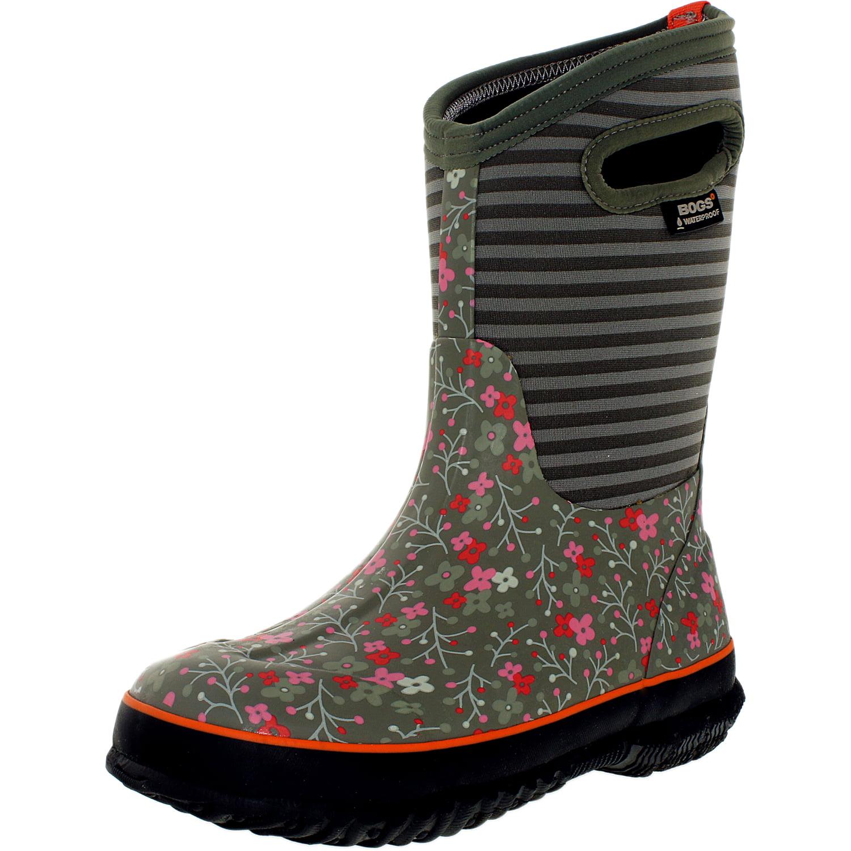 "Bogs Boots Girls Kid 10"" Classic Flower Stripe WP Rubber 71560 by Bogs"