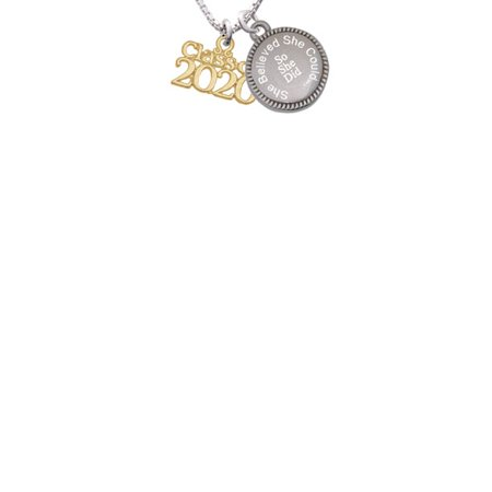 Goldtone Class of 2020 She Believed She Could So She Did Engraved Necklace](Class Necklaces)