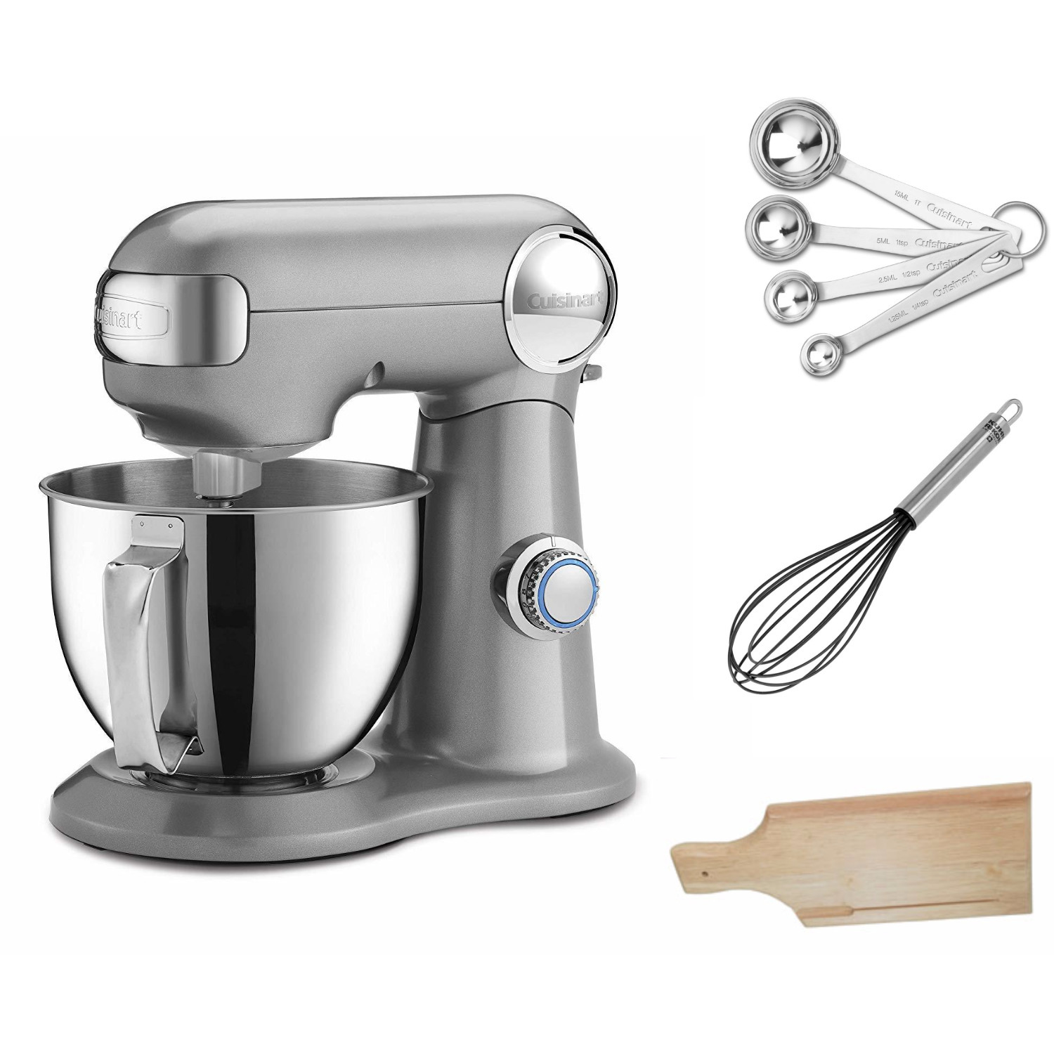 Cuisinart Precision Master 3.5 Quart Stand Mixer (Silver Lining) w/ Accessories