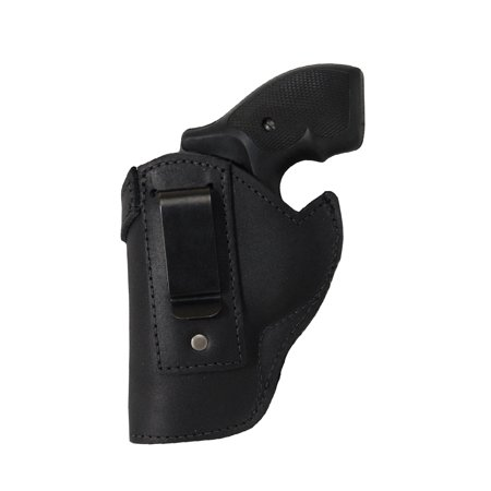 Barsony Left Hand Draw Black Leather Inside the Waistband Gun Holster Size 1 S&W Taurus Colt Charter Arms .22 .38 .357 Revolvers
