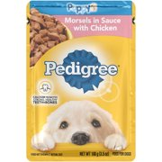 PEDIGREE Choice Cuts Puppy Morsels in Sauce with Chicken Wet Dog Food, 3.5 Ounces