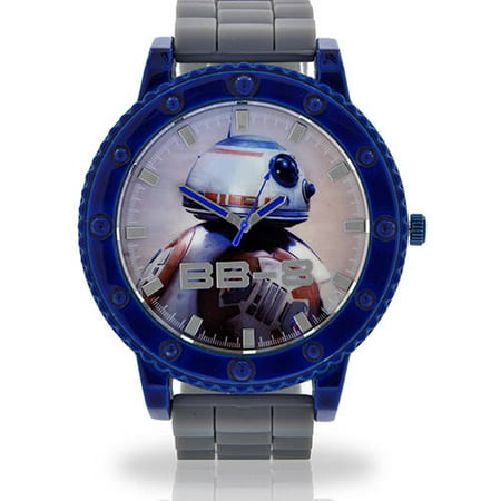 Face Rubber Band - BB-8 Face Watch, Grey Rubber Band