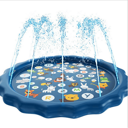 "Sprinkler for Kids, Splash Pad, Outdoor Inflatable Sprinkler Water Toys, Wading and Learning, 68"" Kiddie Water Play Mat Toys,Baby Wading Swimming Pool for 2-6 Years Old Baby and Toddler Girls - image 4 of 7"