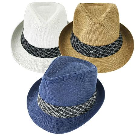Faddism Webby 188 Fashion Straw Fedora Hat