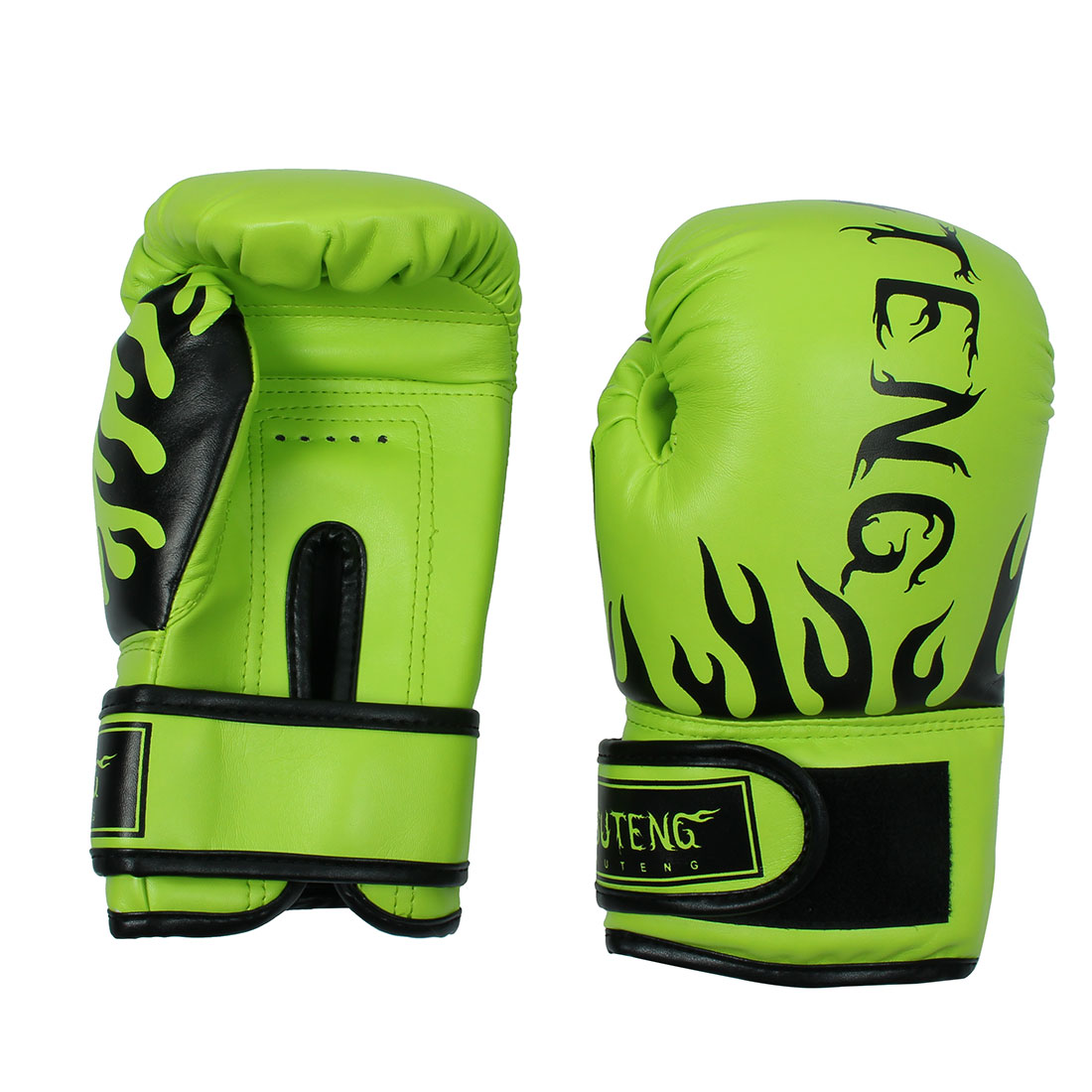 SUTENG Authorized Adult Workout PU Punching Bag Mitts Kickboxing Training Boxing Gloves Pair Fluorescent Green by