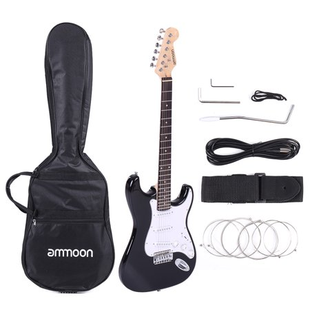 ammoon full size electric guitar poplar wood body rosewood fingerboard with gig bag strap. Black Bedroom Furniture Sets. Home Design Ideas