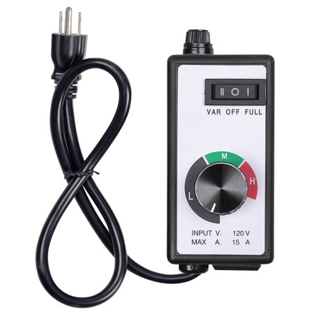 Yescom Electronic Fan Speed Controller Variable Adjustor for Hydroponics Inline Duct Exhaust Ceiling Fans 500 Cfm Variable Speed Fan