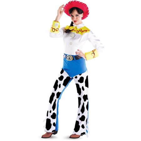 Toy Story Deluxe Jessie Adult Halloween Costume - Cheap Halloween Couples Costumes For Adults