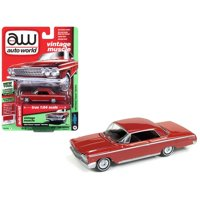 Auto World 1:64 Scale Red 1962 Chevrolet Impala Diecast Car