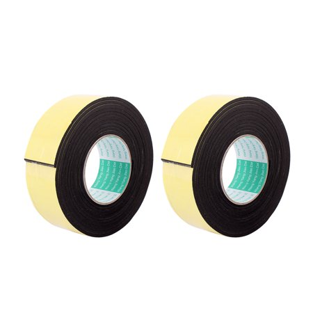 - Unique Bargains 2 Pcs 50mmx4mm Single Sided Sponge Tape Adhesive Sticker Foam Glue Strip 10Ft