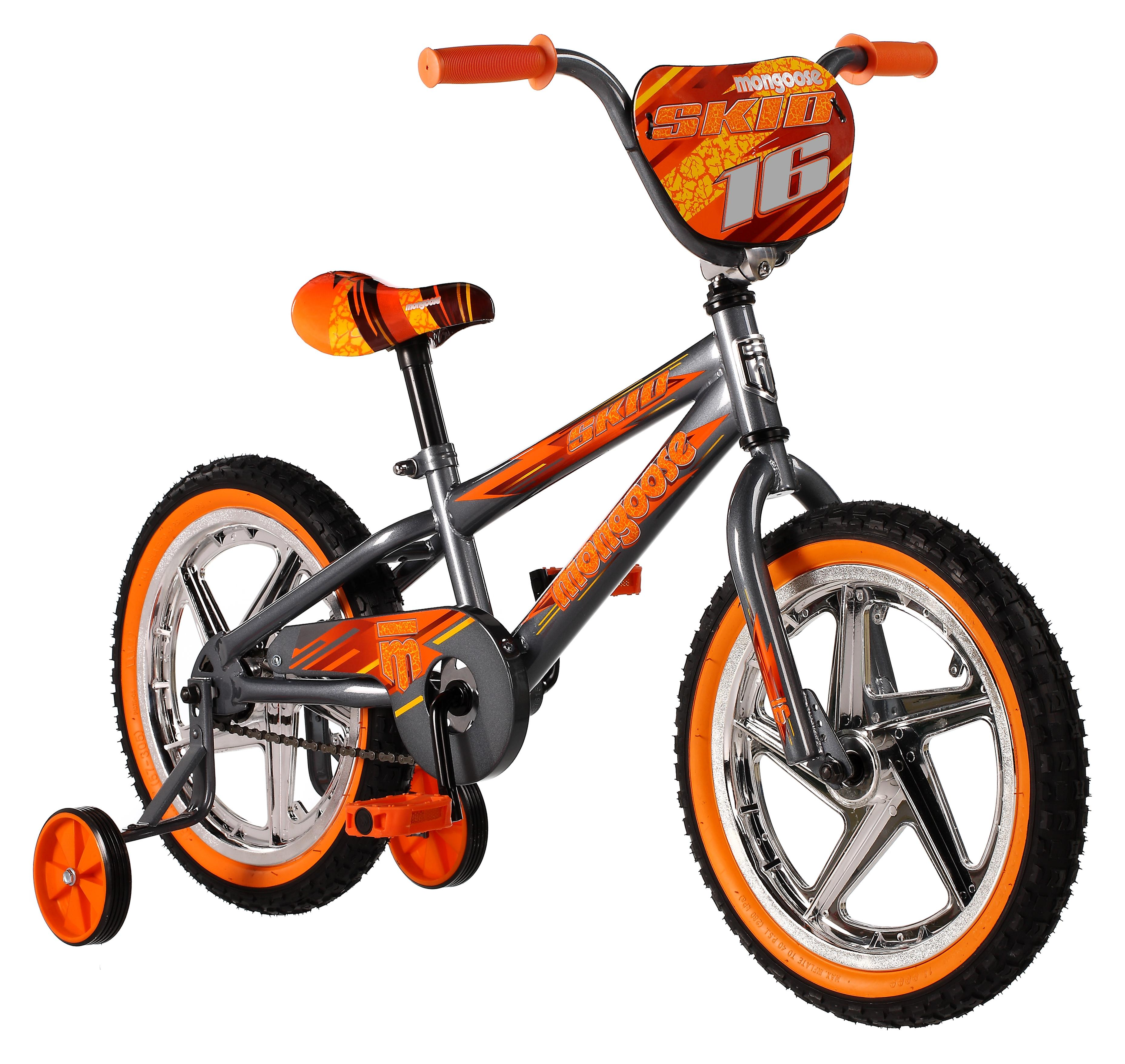 "Mongoose 16"" Boy's Skid Bike"