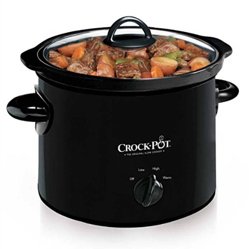 Crock-Pot Manual Slow Cooker, 3 Quart (SCR300-B)