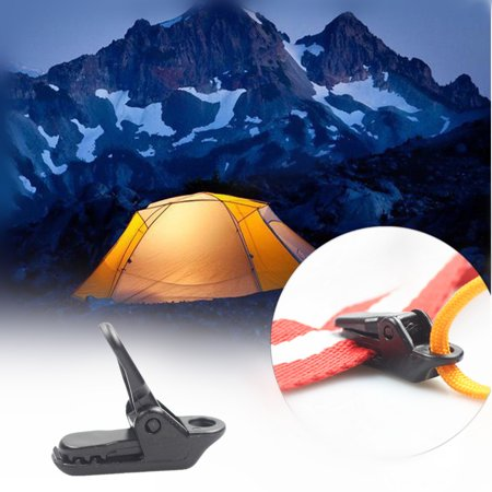 Mosunx 10Pcs Tent Awning Tarp Clamp Gripper Alligator Clip Outdoor Camping Fixed Clip