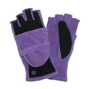 Womens Fleece Stretch Convertible Winter Gloves with Thumb Hole, Purple Rain