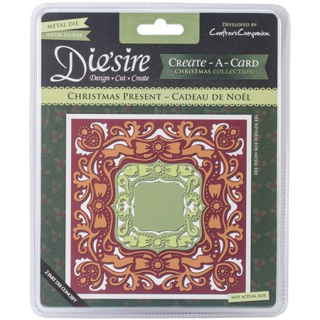 Die'sire Create-A-Card Cutting & Embossing Die-Christmas Present