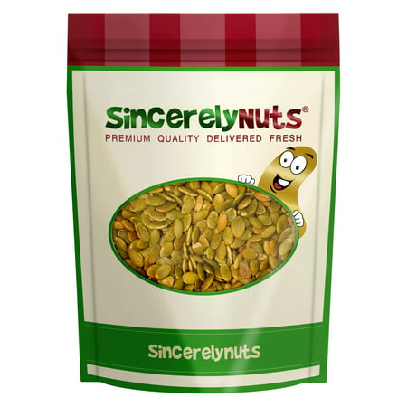 Sincerely Nuts Pumpkin Seeds (Pepitas) Roasted Salted & Shelled, 2 LB (180 Seeds)