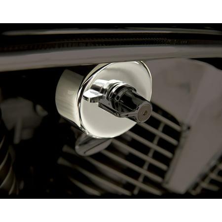- (55-301) Chrome Fuel Shut-Off Cover, Fits Honda VTX1300, VT1100, VT750 ACE/AERO/Spirit By Show Chrome Accessories