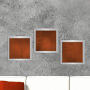Metal Art Studio 'Essence Rusty' 3 Piece Graphic Art Print Set on Metal